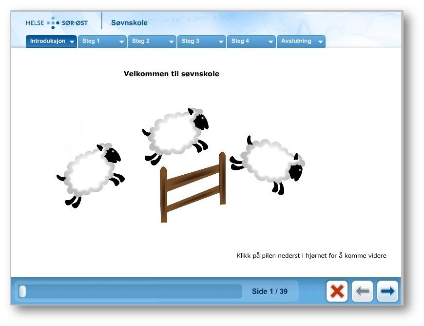 E- læring: Søvnskole